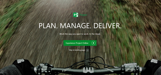 Microsoft Project Plan manage deliver项目主页酷站